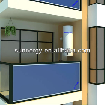 Energy wall mounted flat panel solar collector