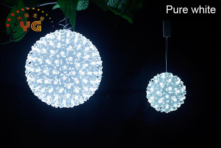 Purple outdoor christmas tree ball lights modern pendant for Outdoor christmas balls that light up