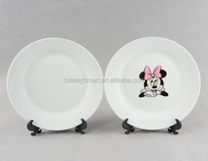 8 10 Inch Wholesale Custom Logo Printed White Ceramic Blank Coated Sublimation Charger Plates