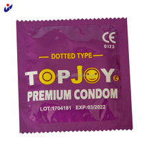 Natural Latex Color Dotted Condom with Sexy Girls Picture