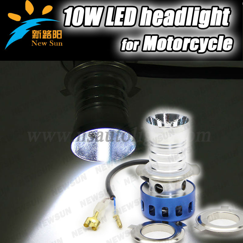 20W universal LED lights motorcycle front light high brightness 1900lm motorcycle headlight replacement with cooling fan