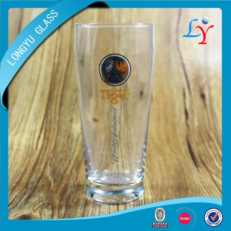 550ml Tiger beer glass cup