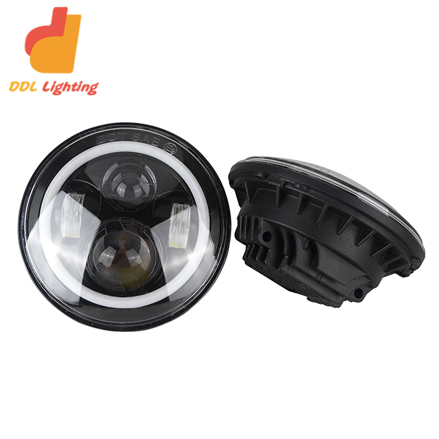 Auto 4x4 accessories 7 Inch Car LED Projector Headlight Approved Round Head Light