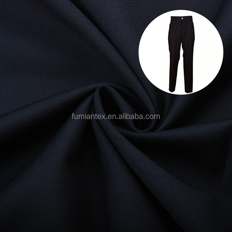 Fancy Woven Plain Dyed T/R Suiting Fabric Wholesale Cheap Viscose Polyester Fabric for trousers