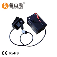 30W 12V DC hand crank free energy generator outdoor used battery power supply