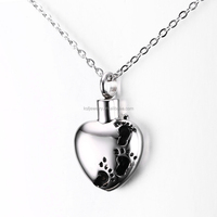 Fashion Stainless Steel Heart Pet Ash Pendant Keepsake Jewelry Wholesale