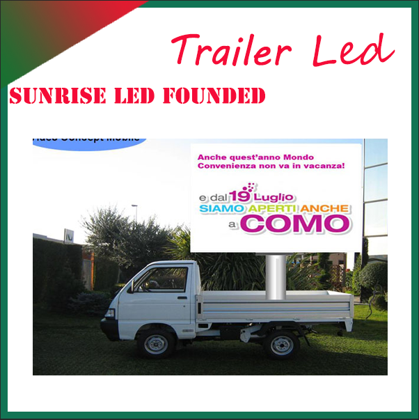 Big size p8 mobile truck led tv screen commercial advertising led display/screen for truck/car/van large