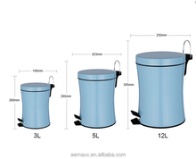 Top sale lovely pedal bin mechanism design dustbin for home