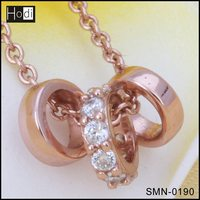 Chinese Direct Manufacturer 925 Sterling Silver Jewelry Rose Gold Necklace