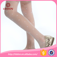 Super thin Japanese girls transparent jacquard beauty silk stockings