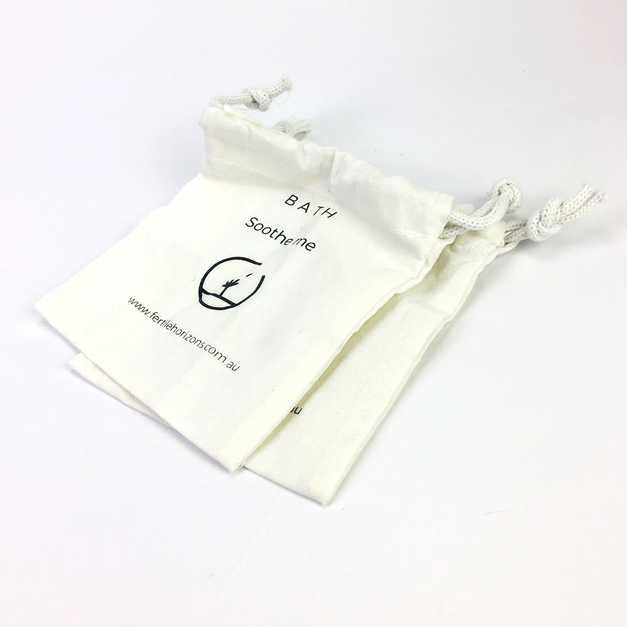 Simple Ecology eco friendly reusable drawstring White Organic Cotton Muslin Produce pouch Bag
