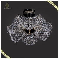 Classic Luxury Modern Indoor Decoration Ceiling Light Crystal Ceiling Light, Large Crystal Ceiling Lamp for Hotel