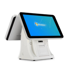 Newest LCD Display 15 inch Dual Restaurant Retail Touch Screen POS <strong>System</strong> with SSD32GB for Supermarket