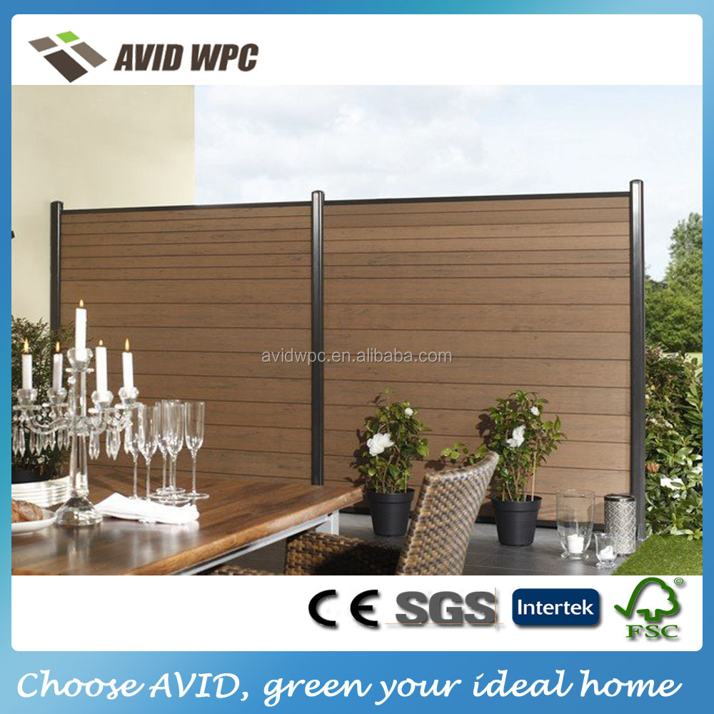 Popular designed garden fence panels/ wpc composite garden fence panels