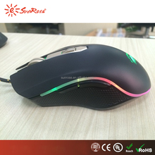 RGB weight addition gaming with A3050 sensor brand name computer mouse gamer