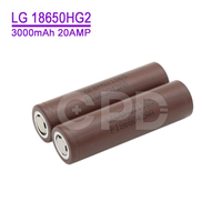 2016 new LG hg2 battey 18650 20A 3000mah High discharge battery