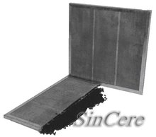 Activated carbon filtering panel