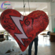 Customized lighting inflatable heart for Valentine decoration