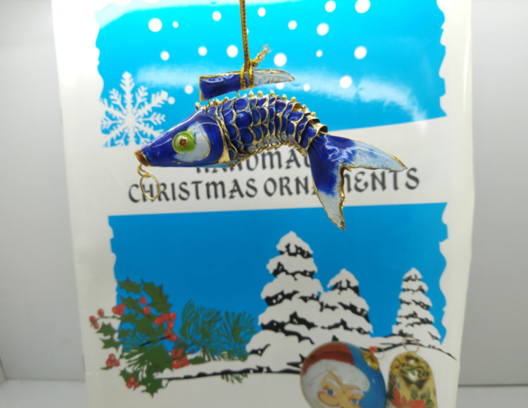 Popular Christmas decoration fish for prosperity and rich great Christmas gift