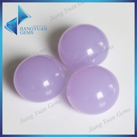 Cheap purplish 18mm round cabochon glass stone