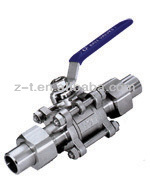 3PC Ball valve with Clamp Butt welded end ball valve