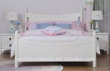 Colorlife latest design bed girls single or double bed sheet