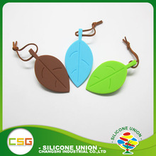 Leaf shape silicone door stop