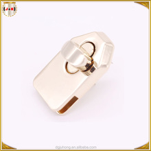 Light Gold Plated Die Casting Bag Turn Lock,Metal Locks and Clasps for Luggage Bag