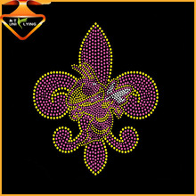 Mardi Gras T-Shirt iron on Fleur De Lis Transfer Rhinestone