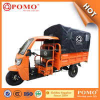 2016 Chongqing Made Heavy Load Strong Gasoline Cabin Semi-Closed Cargo Chinese 250CC Cargo Electric Tricycle With Cabin