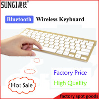 Gold color new design slim wireless bluetooth keyboard for android