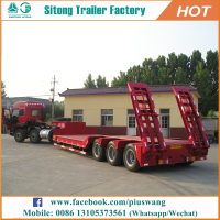 Inexpensive 3 Axles Lowbed Semi Trailers