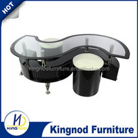 manchester furniture contemporary glass coffee table S shape mdf wooden coffee table high gloss coffee table
