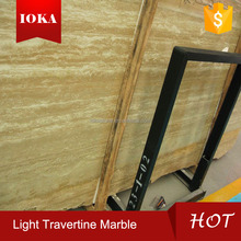 High Polished Light Beige Travertine Italian Marble Prices