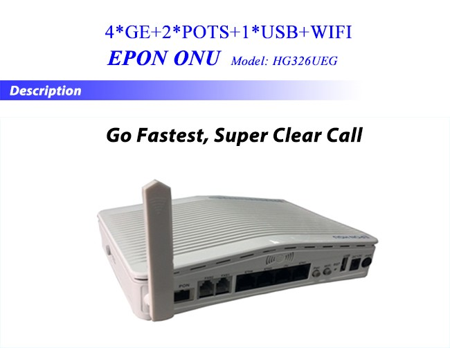 Attractive Price 4GE+2FXS+USB Port+WiFi FTTH EPON Wireless ONU