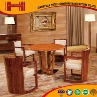 OEM outsourcing french style fancy PU leather hotel oval solid wood dining table