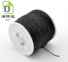 Black Premium Cotton Waxed Cord Thread String 0.8mm Diameter