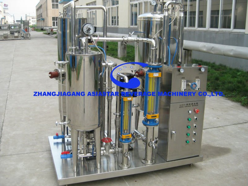 Automatic 5000BPH cola carbonated soft drink CO2 mixer (3 tank)