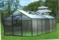 EGR70306 4*6m Typhoon Resistance 10MM Polycarbonate Covering Aluminum Hobby Hothouse