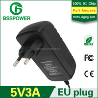 New arrival ac dc 5v 3a power adapter 3000ma charger adaptor with CE FCC ROHS approved ect