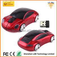Factory promotional 2.4G wireless car mouse, car shape wireless mouse