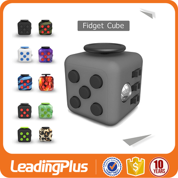 2017 Christmas Gift 6 Sides Anti Stress Cube , Stress Fidget Cube