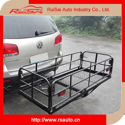 car hitch mount folding cargo carrier