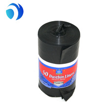 eco frinednly black scented garbage bag trash bag bin liner on roll for trash can plastic bags