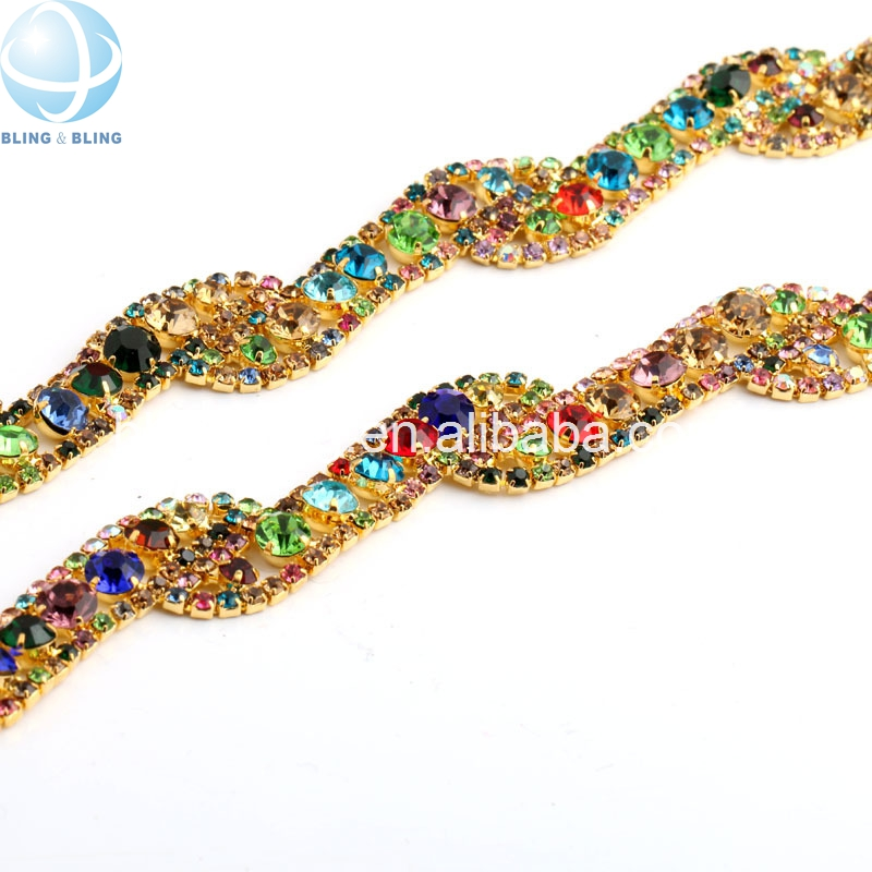 2013 new hot sale wholesale popular silver/white/blue/red crystal,colorful rhinestone mesh roll rhinestone chain