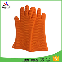 dongguan silicone products kitchen silicone finger glove Heat Resistant bbq silicone gloves /Oven Mitt for Grilling
