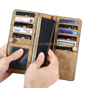 Business Style Slim Card Slot Genuine Real Leather Wallet Luxury Phone Case Mobile Flip Cover For iphone 7 wallet case