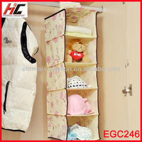 2013 Hot Sale 5 Shelf Non Woven Foldable Hanging Bag Organizer New Products Exported to Dubai
