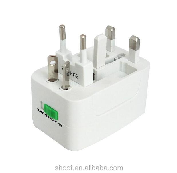 Wholesale World Wide Travel Plug Adapter Charger White AU/US/UK/EU PLUG