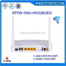 V-solution 300Mbps triple play ftth epon 2fxs 4ge voip wifi onu